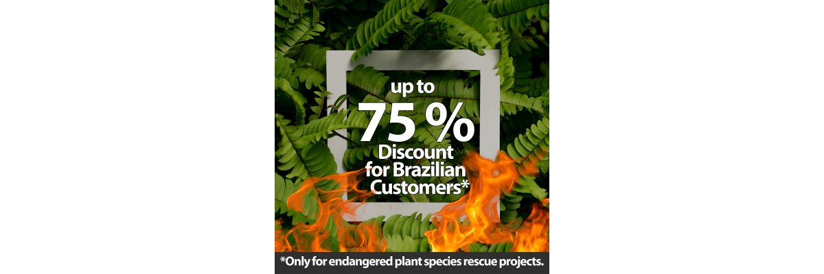 Discount for Brazilian plant species rescue projects -