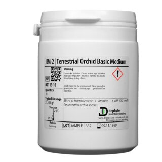 BM-2 | Terrestrial Orchid Basic Medium incl. Sucrose