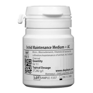 Orchid Maintenance Medium incl. Sucrose & Activated Carbon